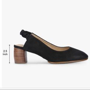 Clark's Grace Allegra Black Nubuck Sling Back Heel